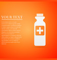 bottle with medical pills icon tablets symbol vector image vector image