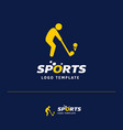 business card design with sports logo and blue vector image