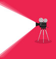 camera old movie on pink background vector image vector image