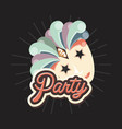 carnival mask stars eyes retro vintage party vector image