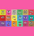cartoon doodle face expressions vector image