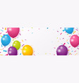celebration banner with colorful confetti vector image vector image