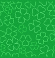 clover outline seamless pattern st patrick day vector image vector image