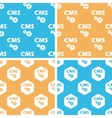 CMS settings pattern set colored vector image vector image