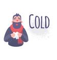 cold flu banner ill virus sick concept vector image