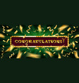 congratulations banner with glitter decoration vector image