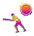 cricket player hitting big shot vector image