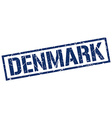 Denmark blue square stamp vector image vector image