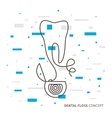 Dental floss linear vector image vector image