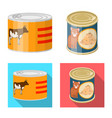 design of can and food logo collection of vector image vector image