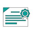 diploma of educational graduation vector image vector image