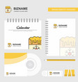 dish logo calendar template cd cover diary and vector image vector image