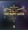 easter dark design with pattern and text vector image
