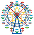 ferris wheel with star in middle vector image