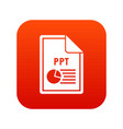 file ppt icon digital red vector image vector image