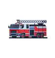 fire rescue red truck firefighting machine vector image