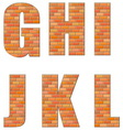 font build out red bricks vector image vector image