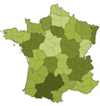 France regions and departments vector image vector image