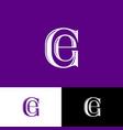 g e violet letters monogram vector image vector image