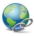 Global link vector image vector image