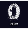 Grunge number zero vector image vector image