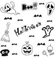 Halloween characters doodle set vector image vector image