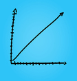 Hand draw arrow graph graphic eps10 vector image vector image