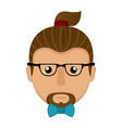 hipster avatar icon vector image vector image