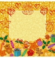 Holiday Christmas background vector image vector image