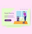 home improvement carpet cleaning concept man vector image