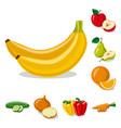 isolated object of vegetable and fruit symbol set vector image