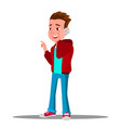 kid boy talking on mobile phone isolated vector image vector image