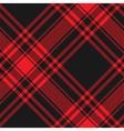Menzies tartan black red kilt diagonal fabric vector image vector image