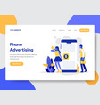 Mobile phone advertising concept
