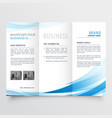 modern clean trifold leaflet design in size a4 vector image vector image