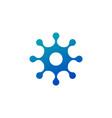 molecule nano technology lab circle logo template vector image vector image
