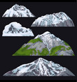 mountains with snow-covered tops vector image