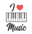 musical instrument keys vector image