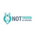 not tested on animals cruelty free emblem sign