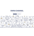 Omni-Channel Doodle Concept vector image vector image