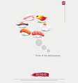 poster sushi restaurant vector image vector image