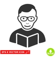 Reader EPS Icon vector image vector image