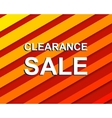 Red striped sale poster with CLEARANCE SALE text vector image vector image