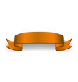 ribbon orange 3d banner sign satin blank vector image vector image