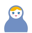 Russian dolls matryoshka on white background blue vector image vector image