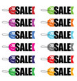 sale tag set in color vector image
