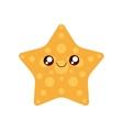 sea star kawaii cute icon vector image vector image
