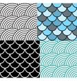 Seamless Fish Scale Pattern Set vector image vector image