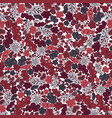 seamless pattern flower and leaf in wine-colored vector image vector image