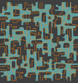 seamless retro mid century modern pattern vector image vector image